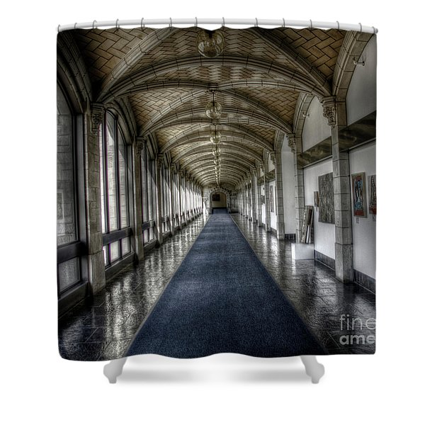 Down The Hall Shower Curtain