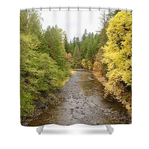 Down The Molalla Shower Curtain