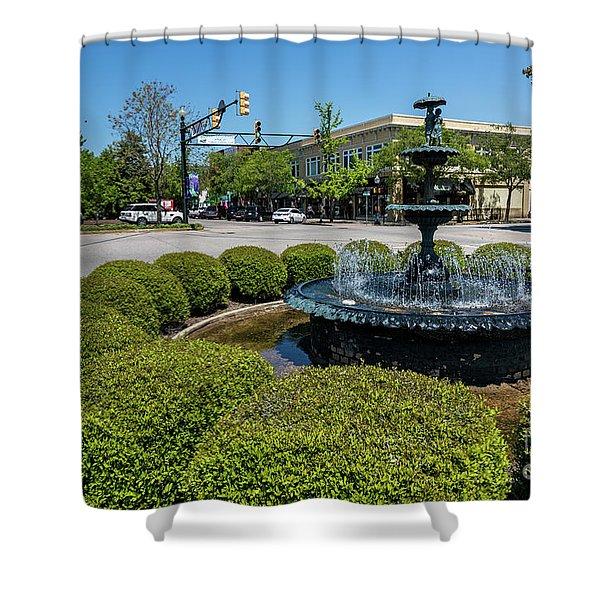 Downtown Aiken Sc Fountain Shower Curtain