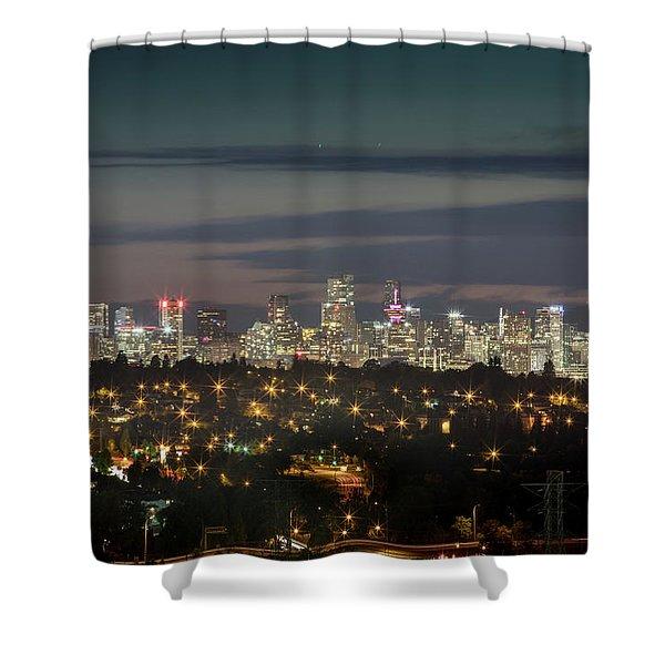 Downtown Dusk Shower Curtain