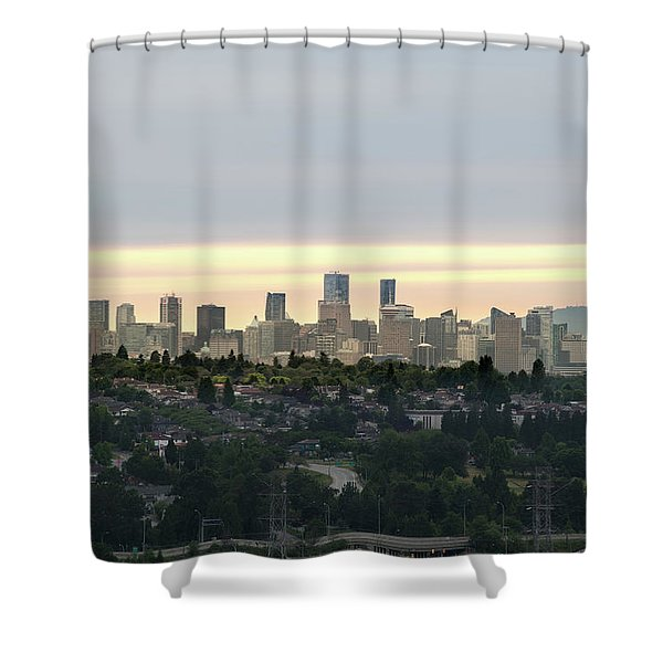Downtown Sunset Shower Curtain