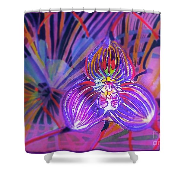 Draculas Orchid Shower Curtain