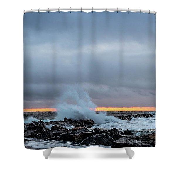 Dramatic Beginnings. Shower Curtain