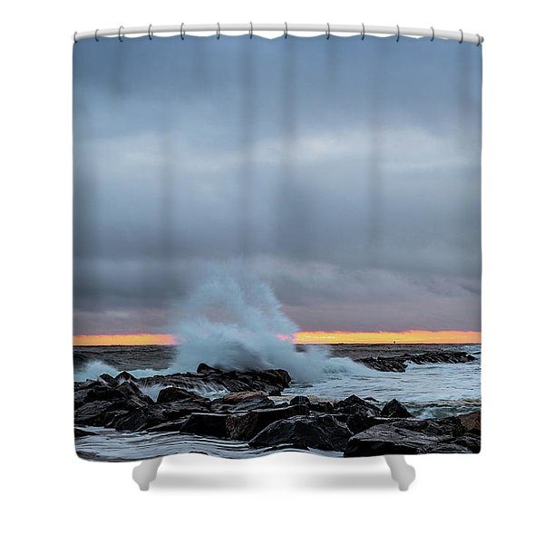 Shower Curtain featuring the photograph Dramatic Beginnings. by Jeff Sinon