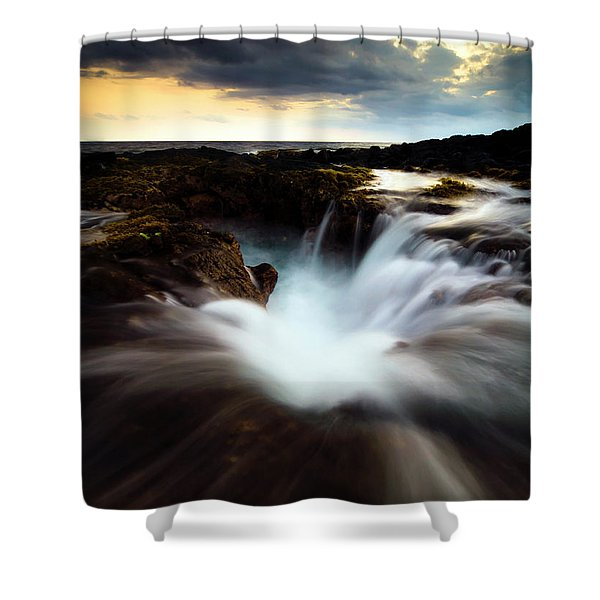 Dramatic Blow Hole Shower Curtain