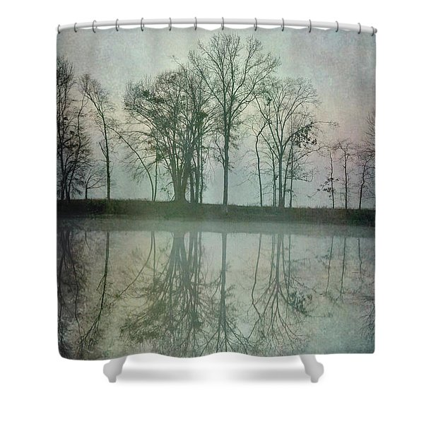 Dramatic Reflection Shower Curtain