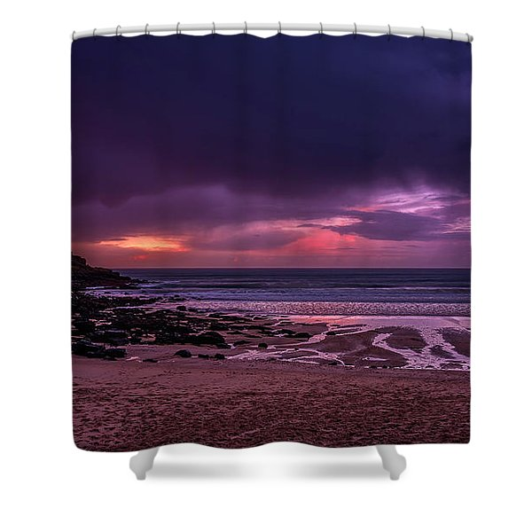 Dramatic Sky At Porthmeor Shower Curtain