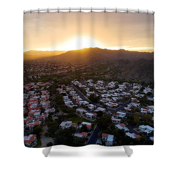 Dramatic South Mountain Sunset Shower Curtain