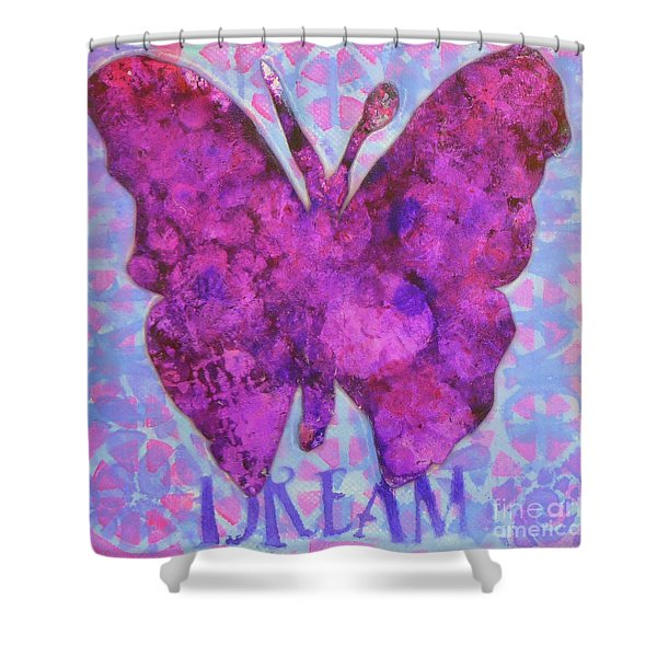 Dream Butterfly Shower Curtain
