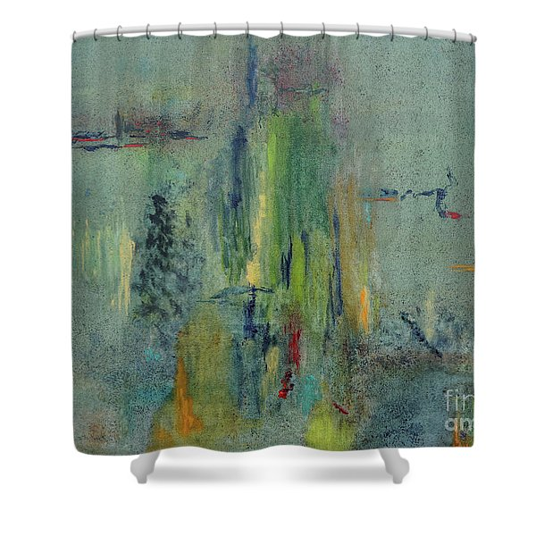 Shower Curtain featuring the painting Dreaming #1 by Karen Fleschler