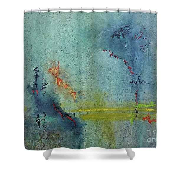 Shower Curtain featuring the painting Dreaming #2 by Karen Fleschler