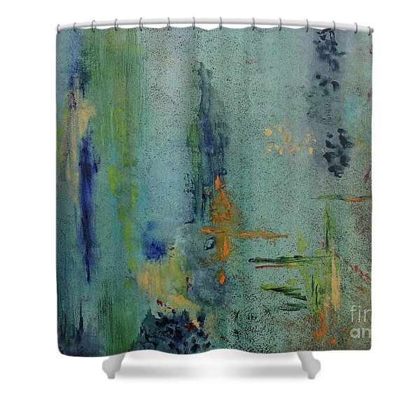 Shower Curtain featuring the painting Dreaming #3 by Karen Fleschler
