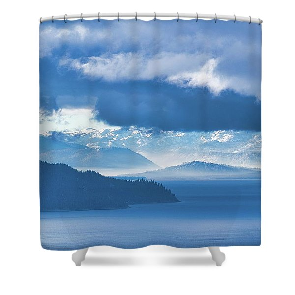Dreamy Kind Of Blue Shower Curtain