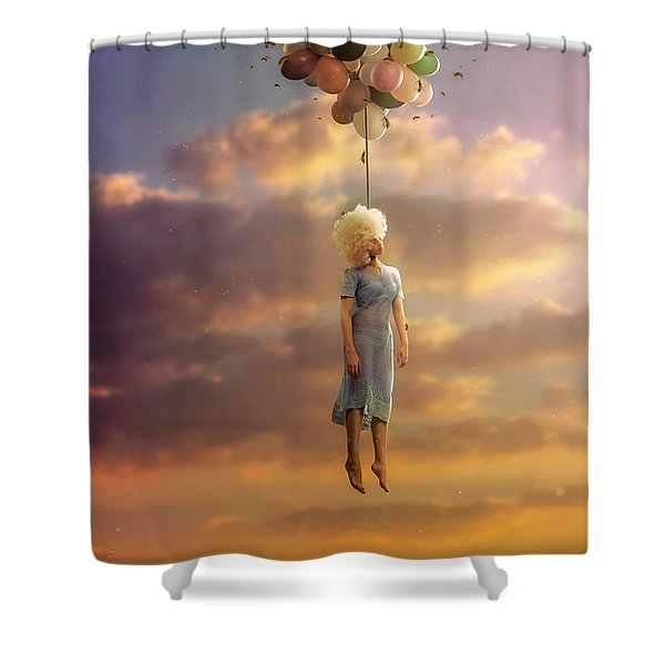 Drifting On A Sad Song Shower Curtain