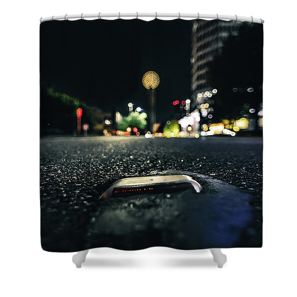 Dropped Pin Shower Curtain
