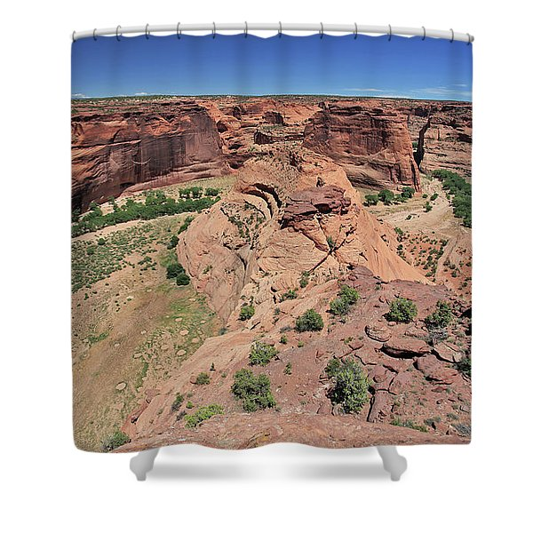Dry Stream Bend Shower Curtain