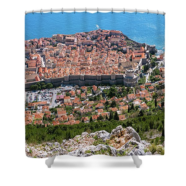Dubrovnik Panorama From The Hill Shower Curtain
