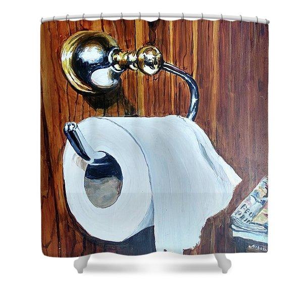 Duchamp's Paperwork Shower Curtain