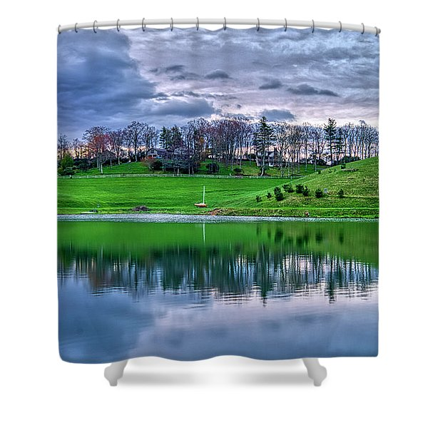 Shower Curtain featuring the photograph Duck Pond by Meta Gatschenberger