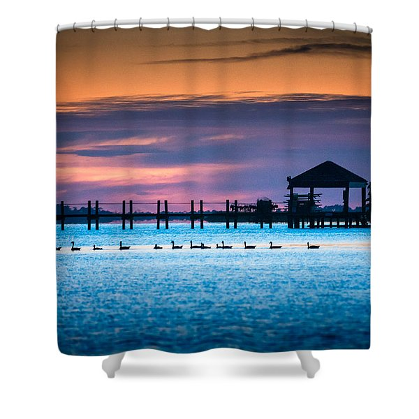 Duck Sunset - Outer Banks North Carolina Shower Curtain