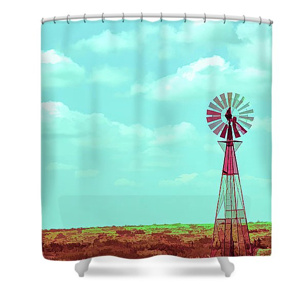 Dueling Tones Windmill Shower Curtain