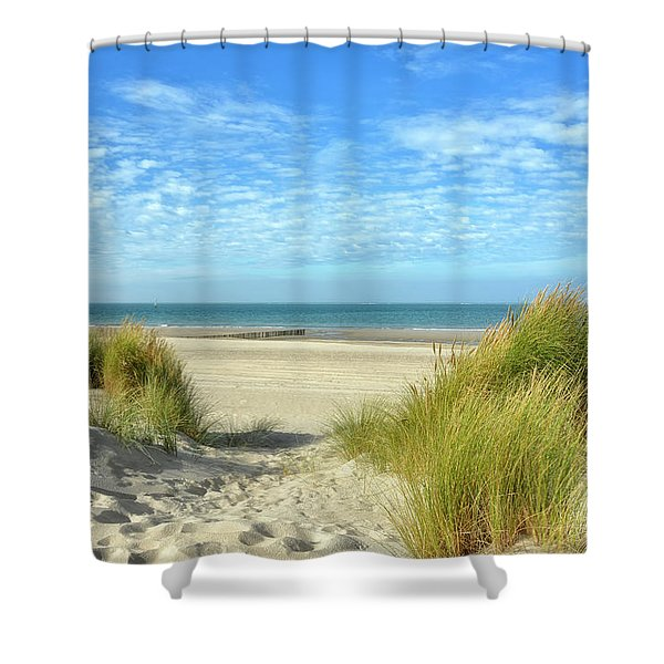 Dunes-day In October Shower Curtain
