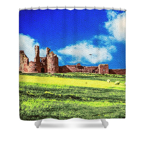 Dunstanburgh Castle In Oil Shower Curtain