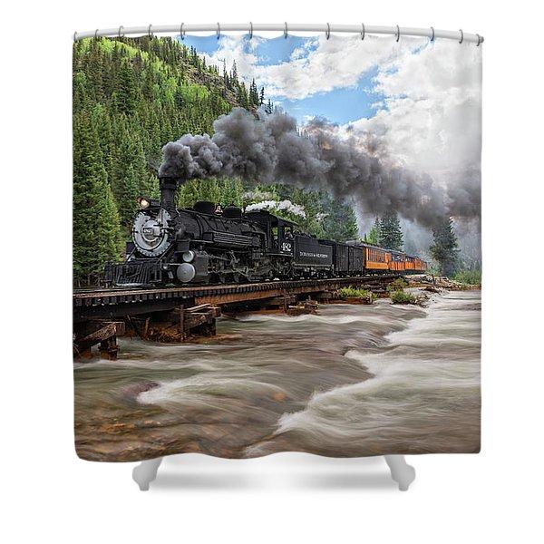 Durango Silverton Train 482 Shower Curtain