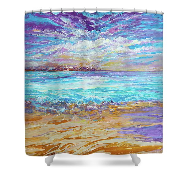 Dusk At The Beach Shower Curtain