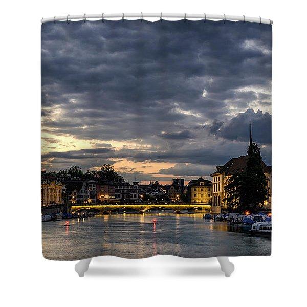 Dusk At Zurich Shower Curtain