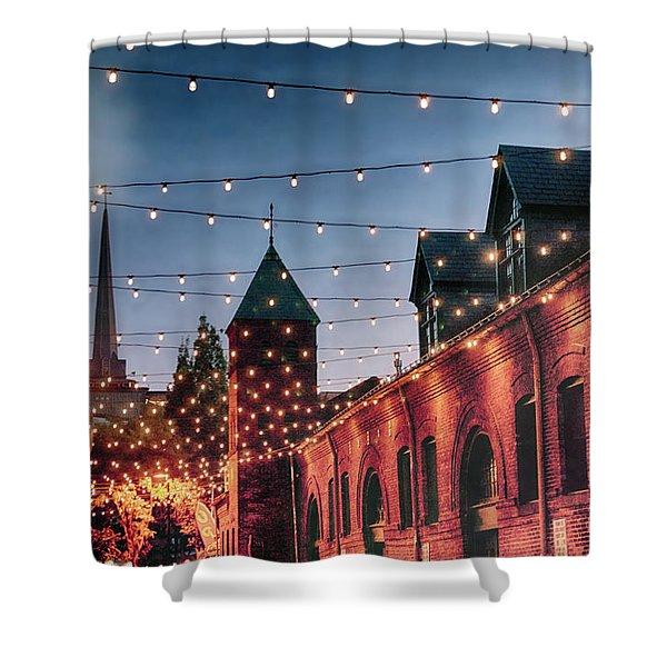 Dusk Lights Shower Curtain