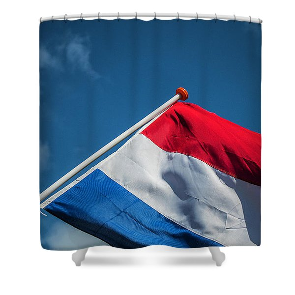 Shower Curtain featuring the photograph Dutch Flag by Anjo Ten Kate