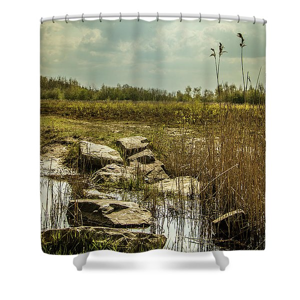 Shower Curtain featuring the photograph Dutch Landscape. by Anjo Ten Kate