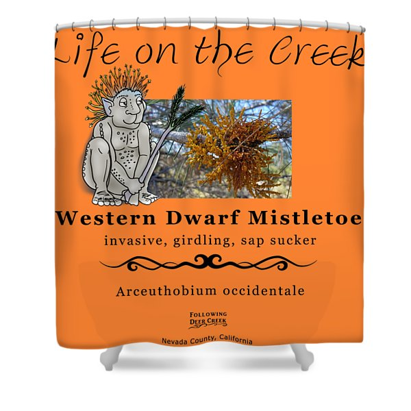 Dwarf Mistletoe Shower Curtain