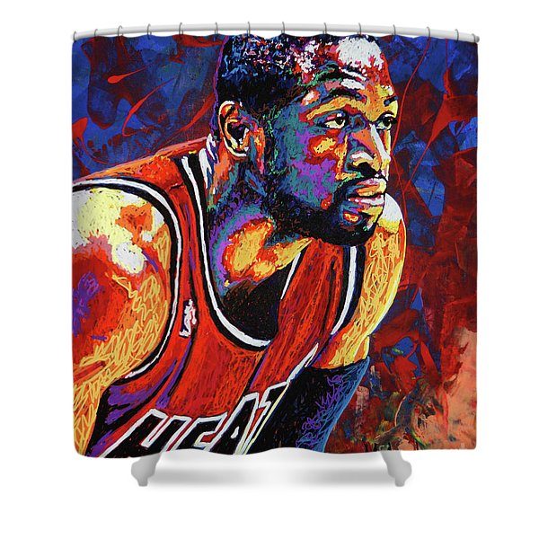 Dwyane Wade 3 Shower Curtain