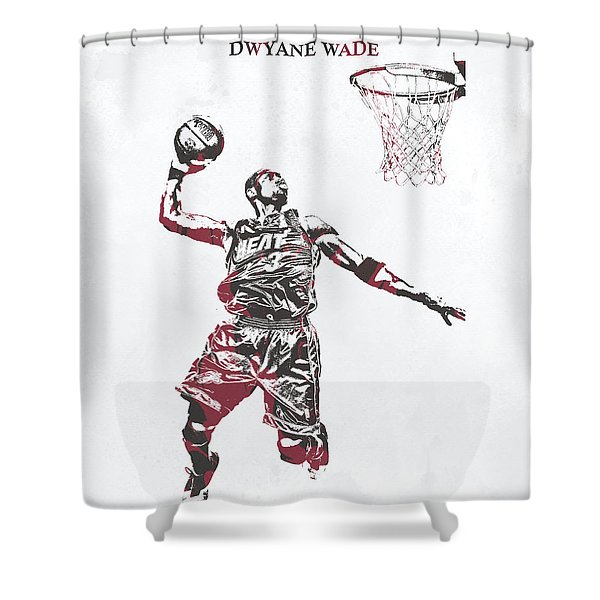 Dwyane Wade Miami Heat Pixel Art 50 Shower Curtain
