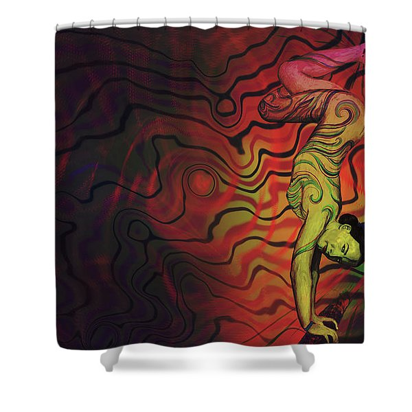 Dynamic Color Shower Curtain