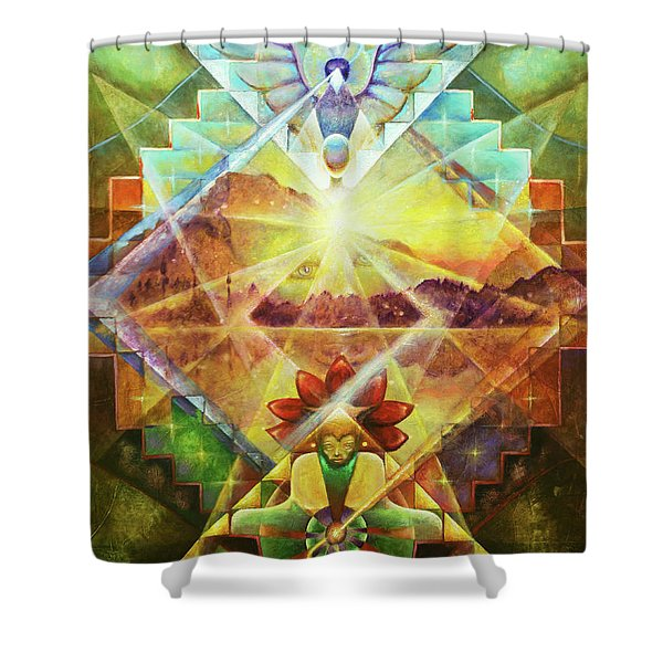 Eagle Boy And The Dawning Of A New Day Shower Curtain
