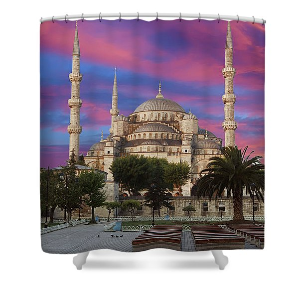 Early Morning Light On  Sultan Ahmet Camii Shower Curtain