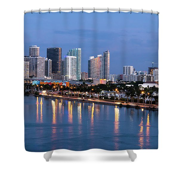 Early Rise Miami Shower Curtain