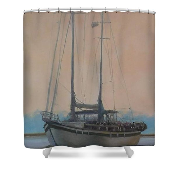 Early Start Shower Curtain