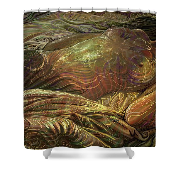 Earth Evening Shower Curtain