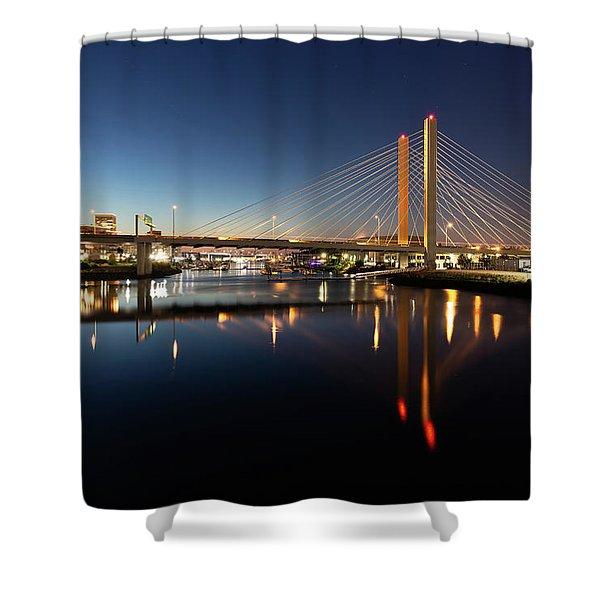 East 21st Street Bridge Shower Curtain