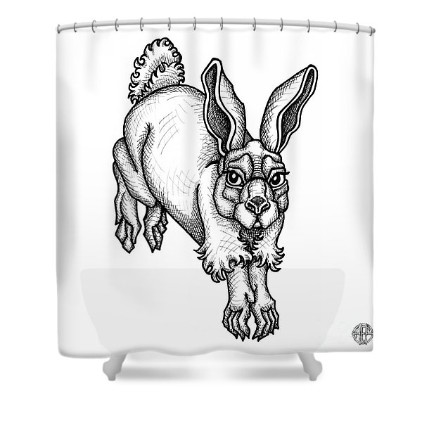 Eastern Cottontail Shower Curtain