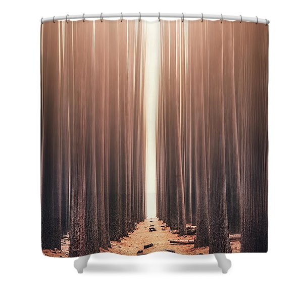 Echoes Rising Shower Curtain