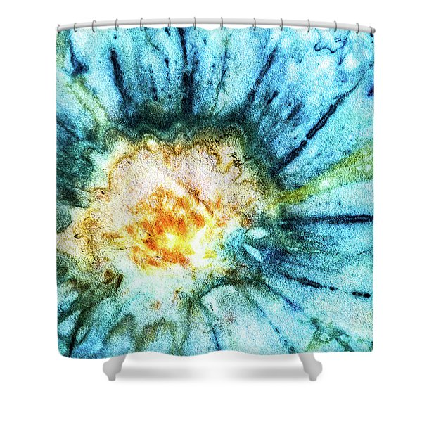 Eco Dyed Cosmos Shower Curtain