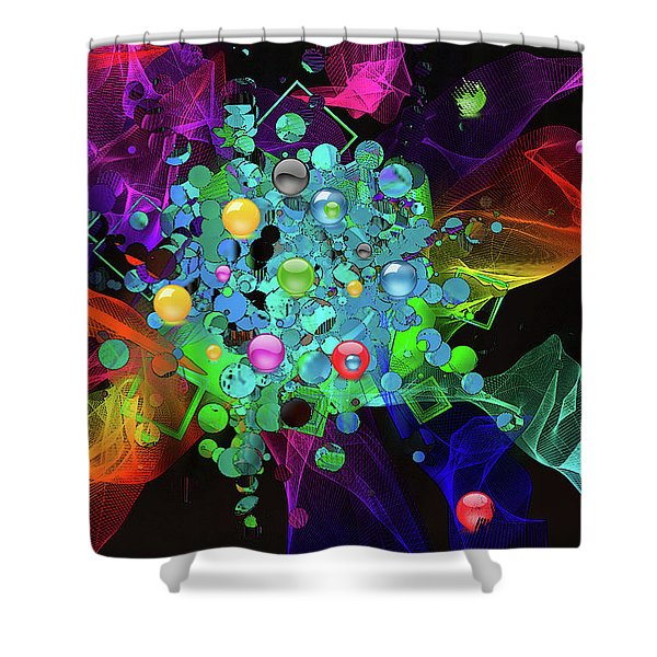 Shower Curtain featuring the digital art Ecstasy by Gerlinde Keating - Galleria GK Keating Associates Inc