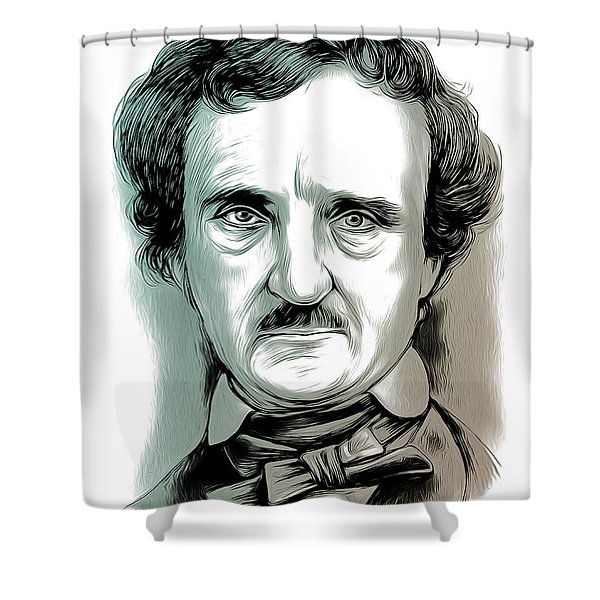 Edgar Allan Poe 2 Shower Curtain