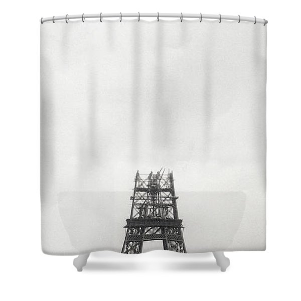 Eiffel Tower Being Built, Paris, 14th October And 14th November 1888 Shower Curtain