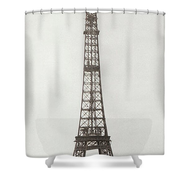 Eiffel Tower, Paris, 12th February And 12th March 1889 Shower Curtain